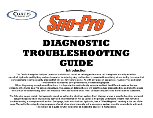 small resolution of curtis 3000 troubleshooting guide diagnostic troubleshooting guide introduction the curtis snowplow
