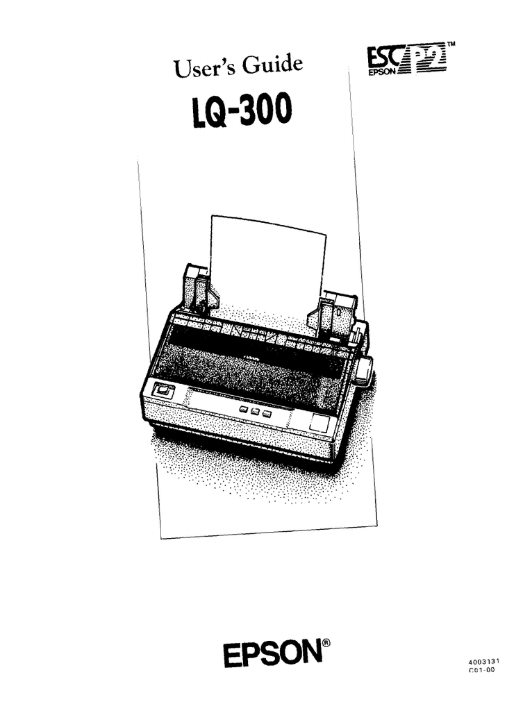 Epson Lq 300 — Digitalnoise