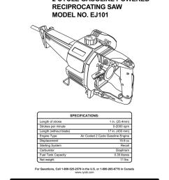 ryobi ej101 operator s manual [ 791 x 1024 Pixel ]