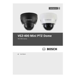 bosch vez 400 series user manual [ 791 x 1024 Pixel ]