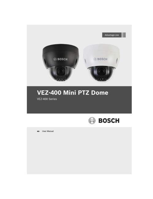 small resolution of bosch vez 400 series user manual