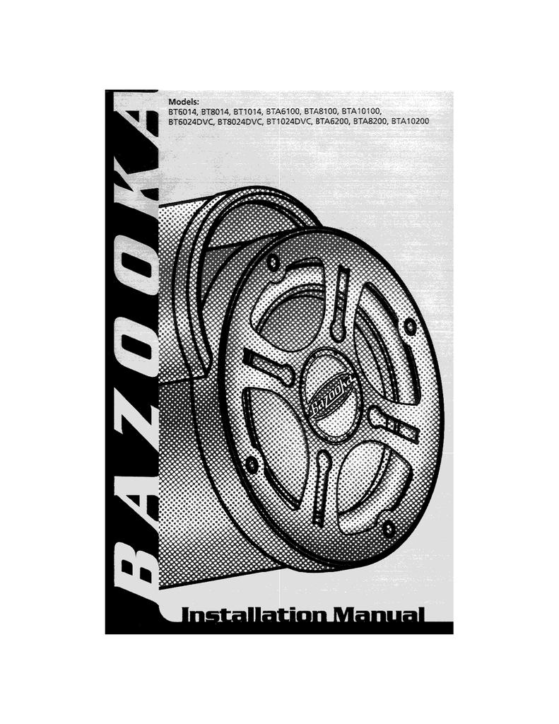 hight resolution of bazooka bt1014 specifications manualzz combazooka bt1014 wire harness 7