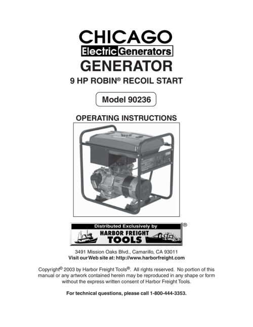small resolution of chicago electric 90236 operating instructions