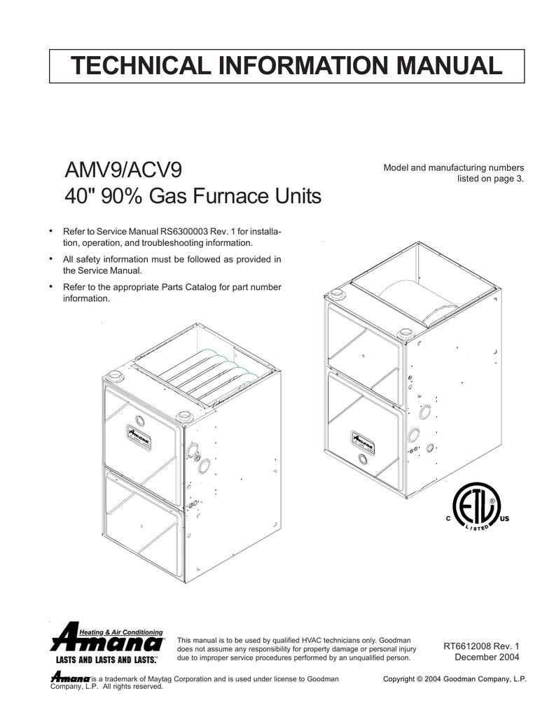 medium resolution of amana amv9 technical information