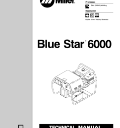 miller electric blue star 6000 tm 499c specifications [ 791 x 1024 Pixel ]