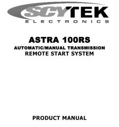 scytek electronic 100rs product manual [ 791 x 1024 Pixel ]