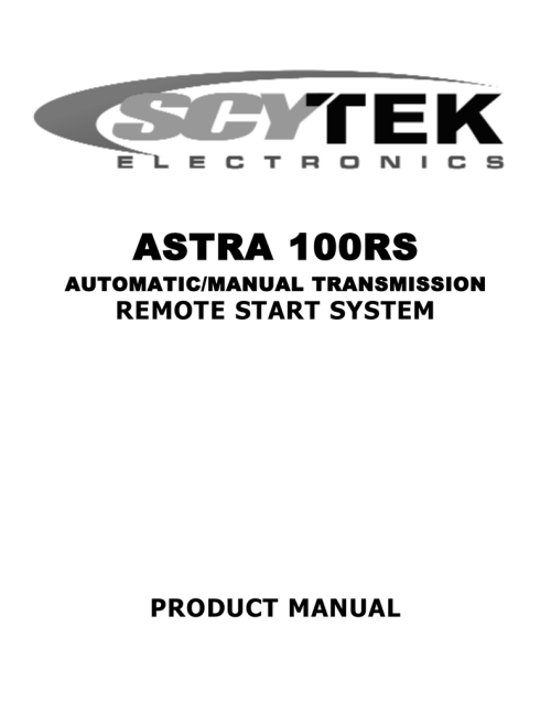 small resolution of scytek electronic 100rs product manual