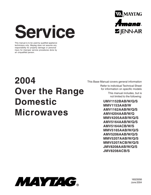 small resolution of maytag mmv1153aab service manual