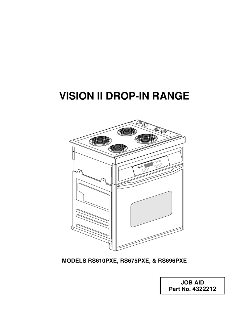 Whirlpool RS696PXE Service manual