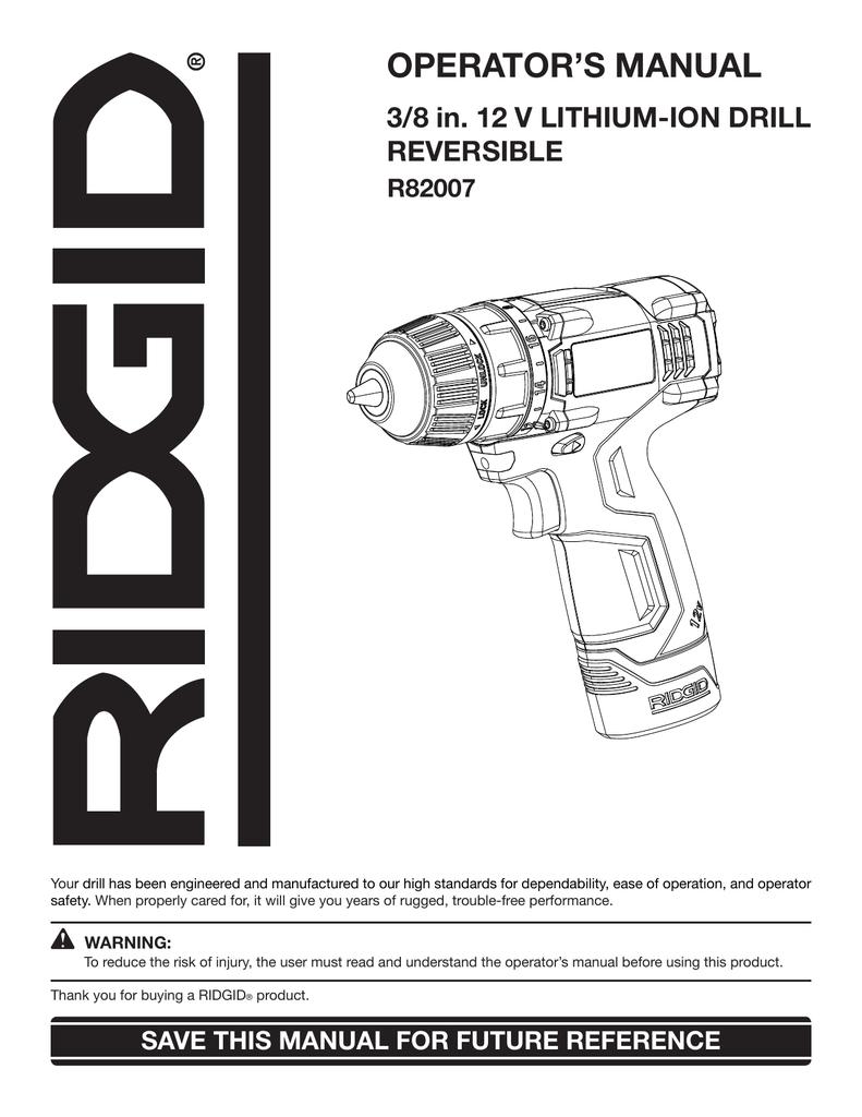 Ridgid R82007