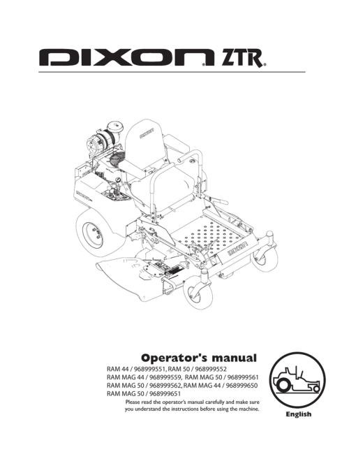 small resolution of dixon ztr ram 42 ram 44 ram 50 ram 44 mag ram operator s manual