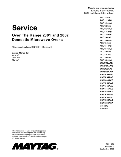 small resolution of maytag mmv5156aab service manual