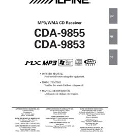 alpine cda 9853 radio cd owner s manual [ 791 x 1024 Pixel ]