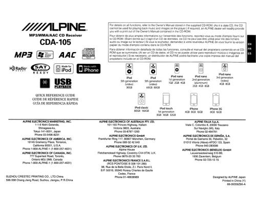 small resolution of alpine cda 105 owner s manual manualzz com alpine wiring harness diagram
