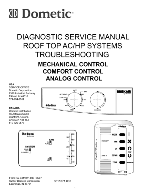 small resolution of dometic duo therm 59146 service manual