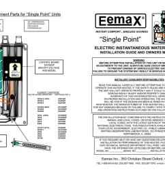 eemax ex120 tc installation guide [ 1024 x 791 Pixel ]