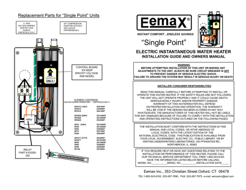 small resolution of eemax ex120 tc installation guide
