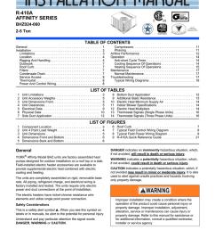 york affinity bhz060 specifications [ 791 x 1024 Pixel ]