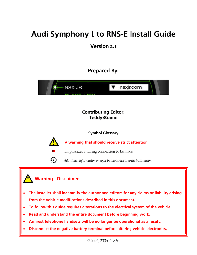 hight resolution of audi rns e install guide