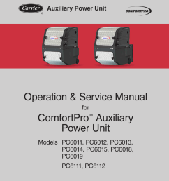 carrier pc6000 service manual [ 791 x 1024 Pixel ]