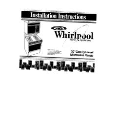 english installation manual of whirlpool sm988pesw2  [ 932 x 1024 Pixel ]