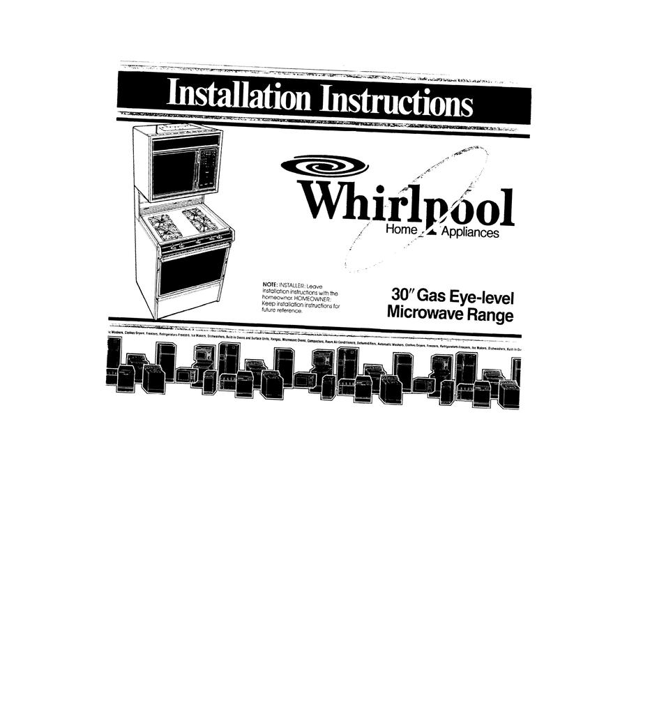 medium resolution of english installation manual of whirlpool sm988pesw2