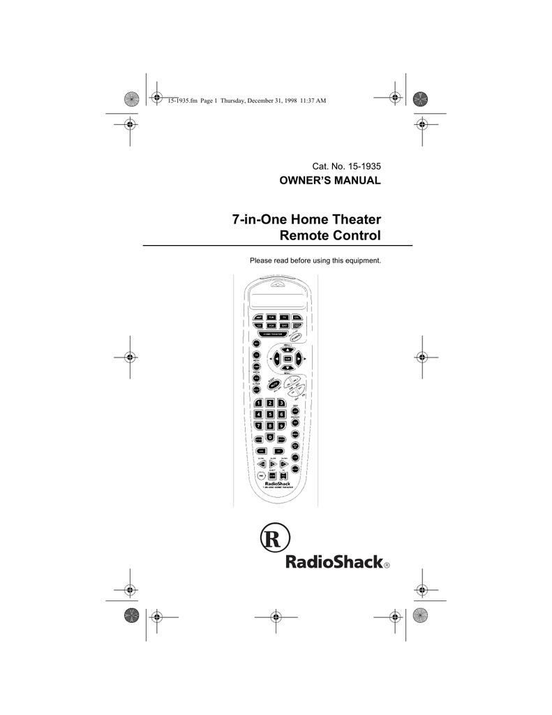 Bestseller: Radio Shack 43 143 Manual