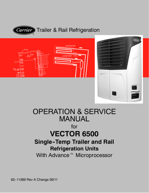 small resolution of carrier vector 6500 service manual
