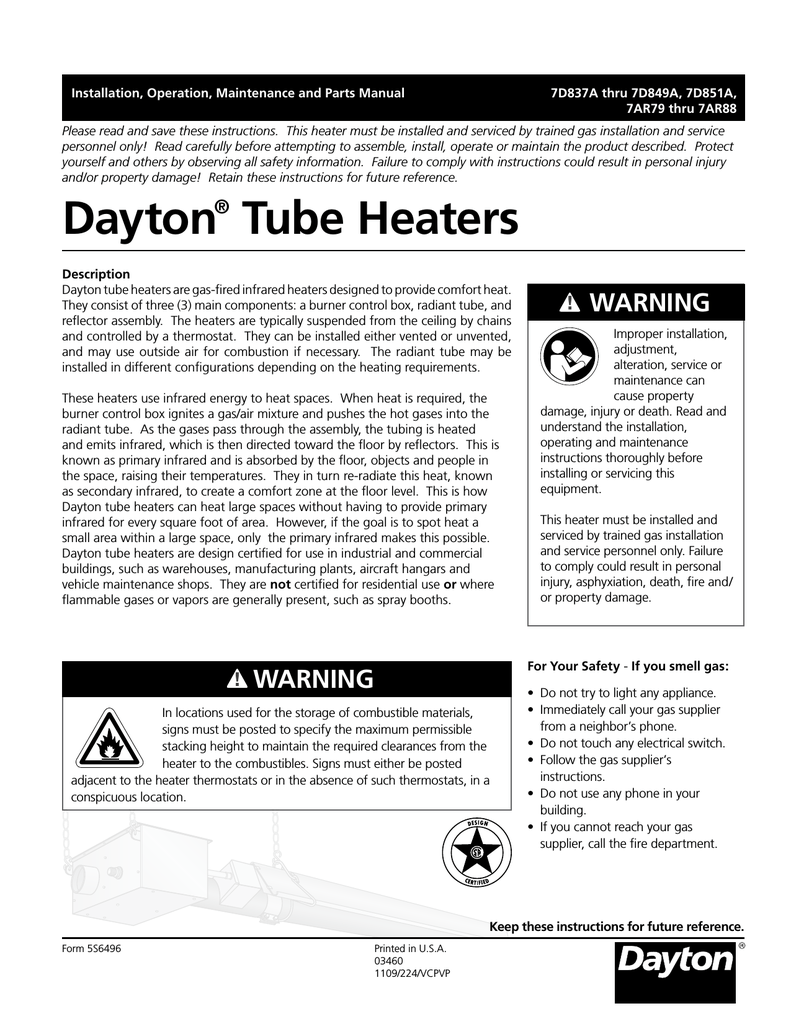 hight resolution of dayton 7d837a troubleshooting guide installation