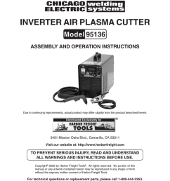 chicago electric 95136 specifications inverter air plasma cutter  [ 791 x 1024 Pixel ]