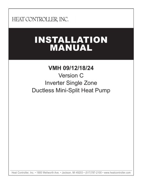 small resolution of comfort aire b vmh30 installation manual