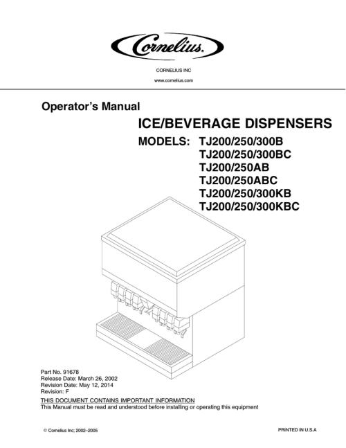 small resolution of cornelius sid851a 250s b operator s manual