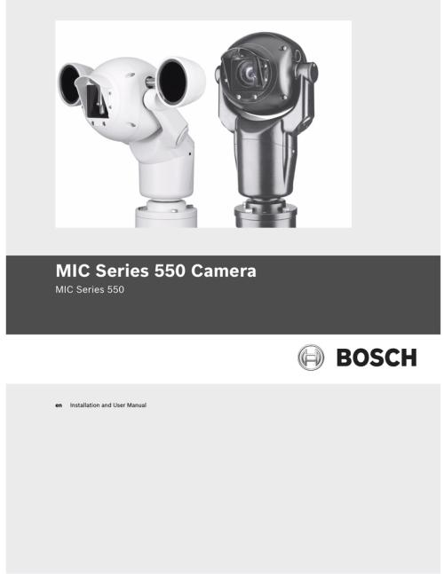 small resolution of bosch mic series 400 user manual