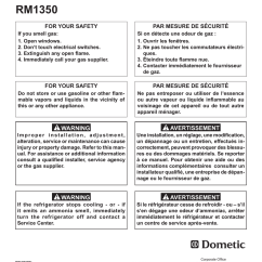 Dometic Rm1350 Wiring Diagram Visio Sequence Library Dometi Operating Instructions Manualzz Com