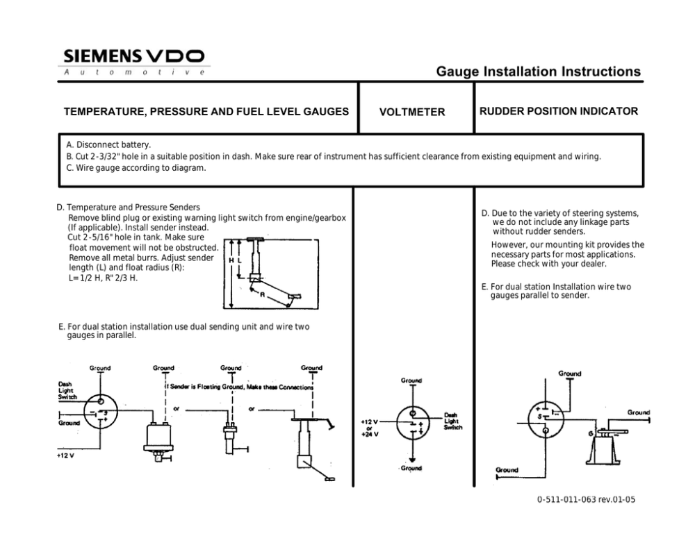 medium resolution of vdo fuel tank gauge operating instructions