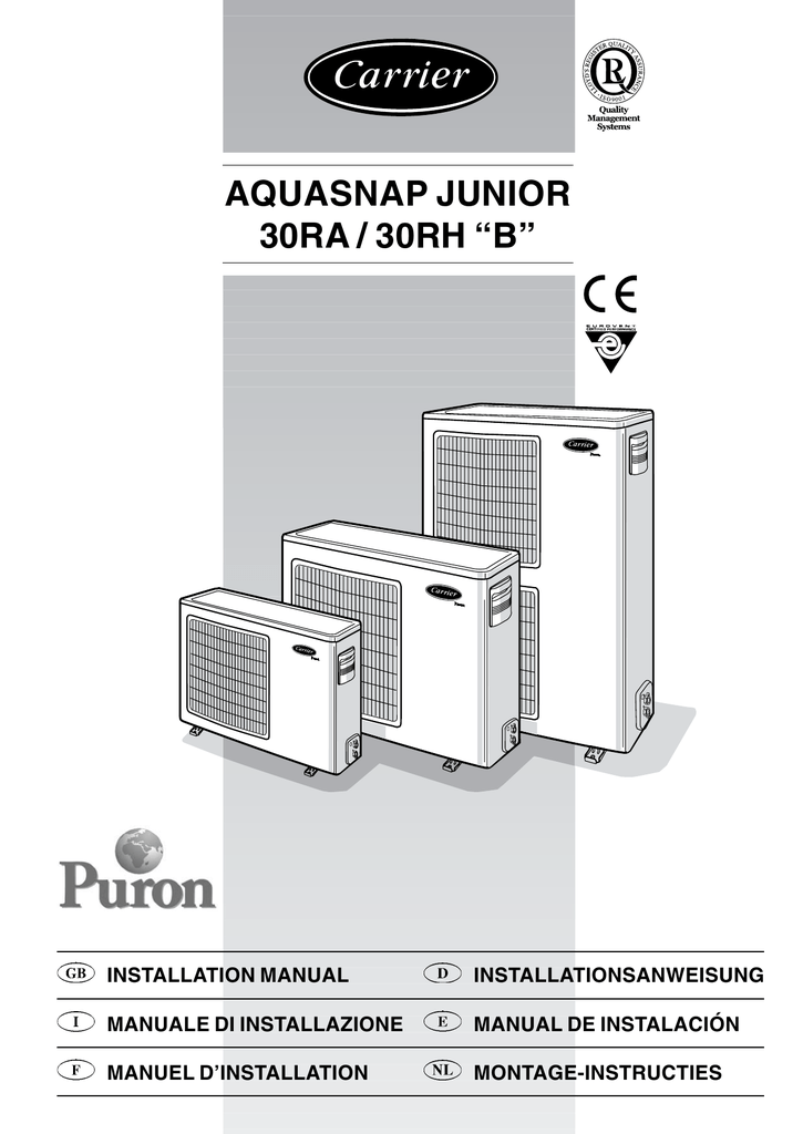 carrier 30ra wiring diagram for smoke alarms aquasnap specifications manualzz com 200 schematics and diagrams