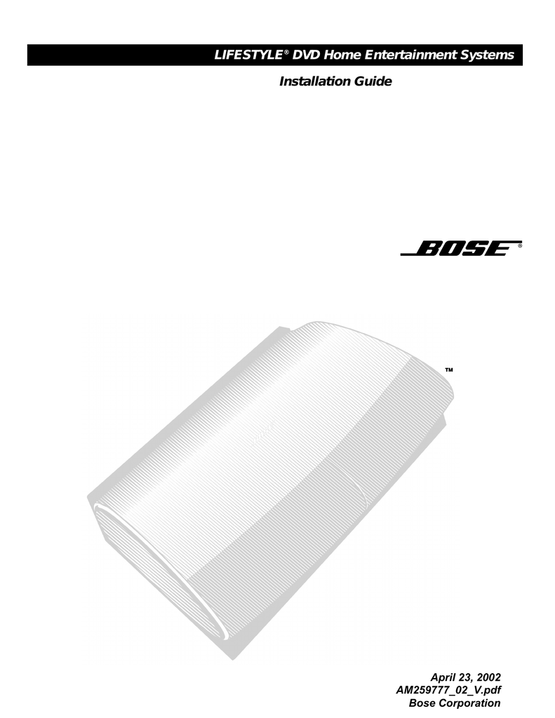 medium resolution of bose lifestyle 28 installation guide
