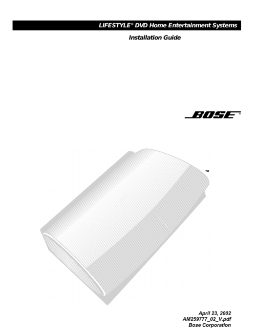 small resolution of bose lifestyle 28 installation guide