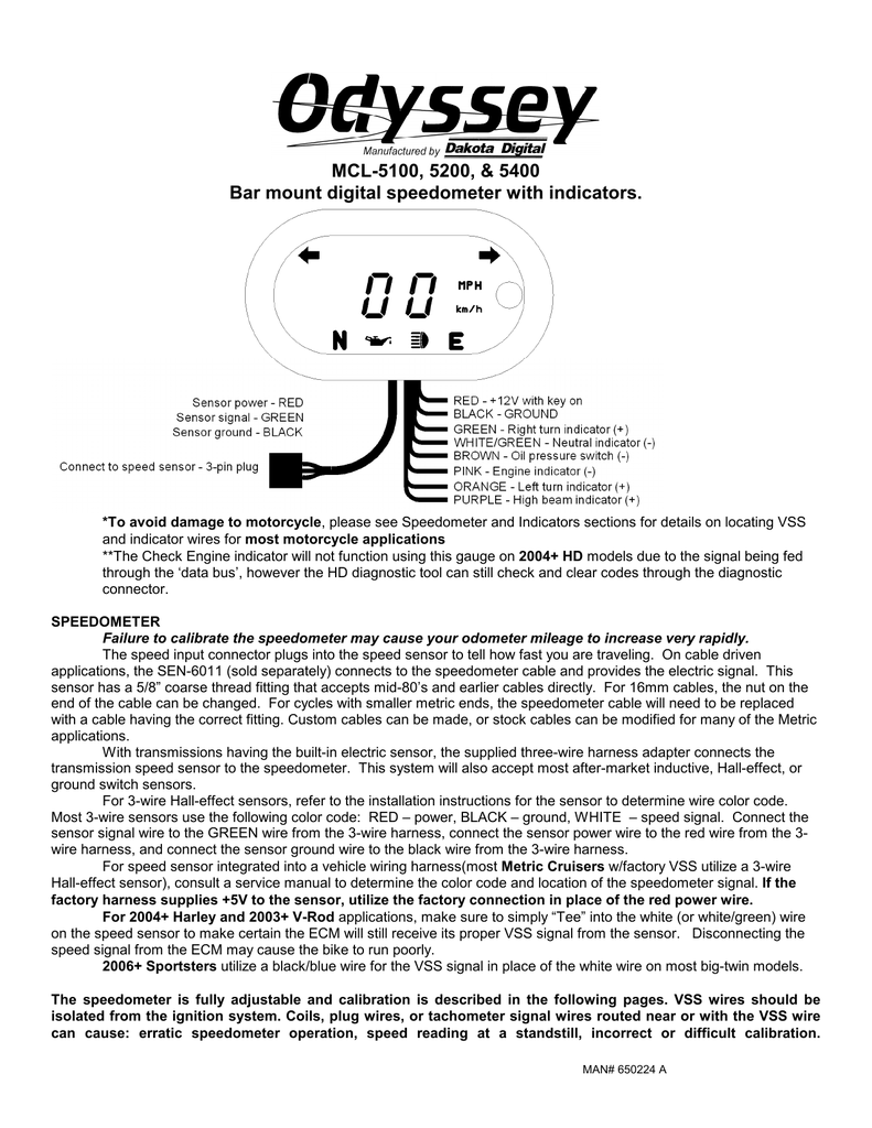 hight resolution of dakota digital 5000 series service manual