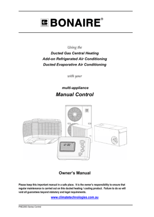 Bonaire Air Conditioner Manual | Sante Blog