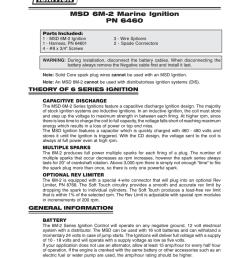 msd 6460 ignition kit installation instructions msd 6m 2  [ 791 x 1024 Pixel ]