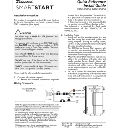 directed electronics smart start install guide [ 791 x 1024 Pixel ]