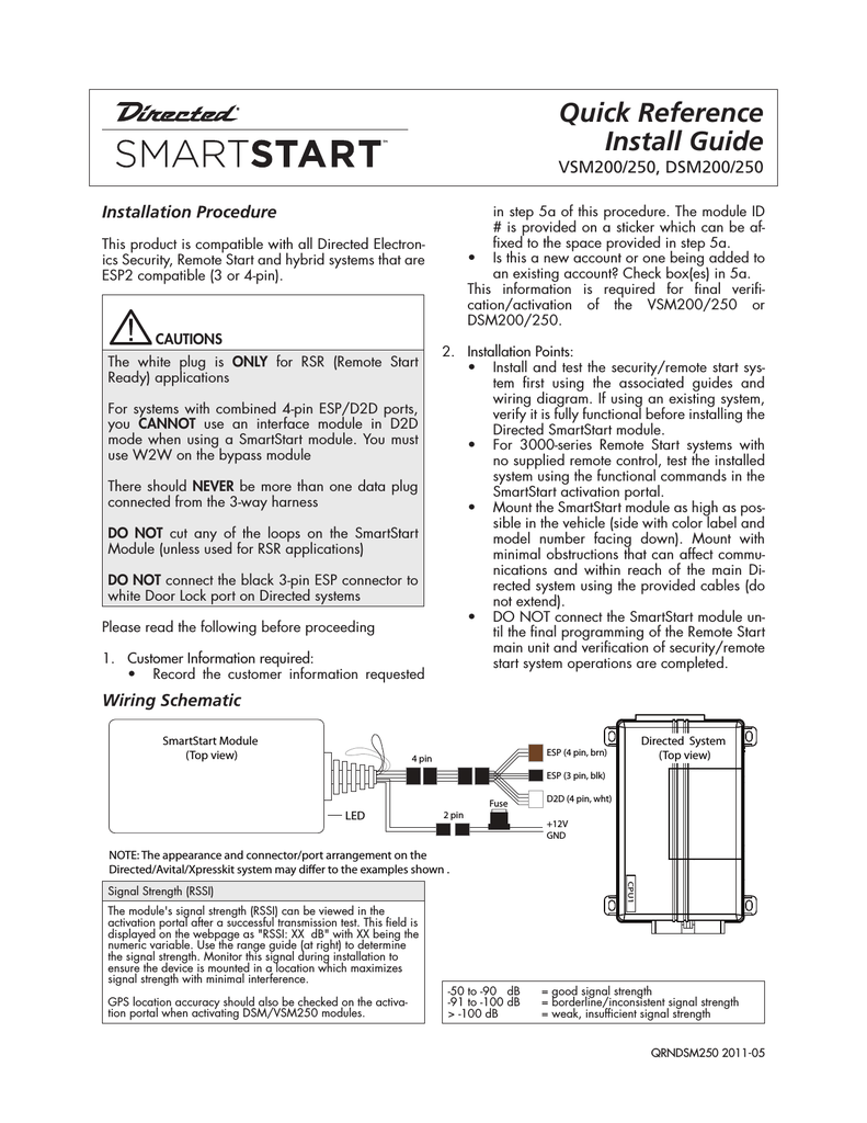 medium resolution of directed electronics smart start install guide