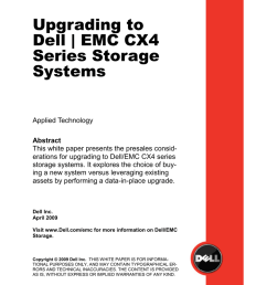 dell dae upgrading to emc clariion cx4 series storage systems [ 791 x 1024 Pixel ]