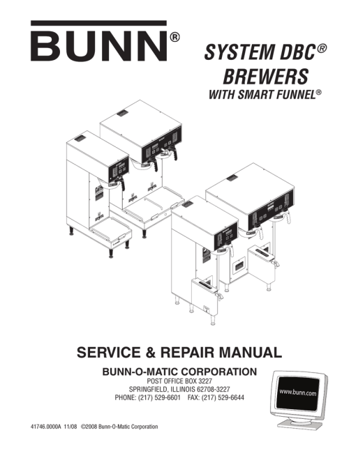 small resolution of bunn dual gpr dbc repair manual manualzz com bunn brew phase wiring diagram