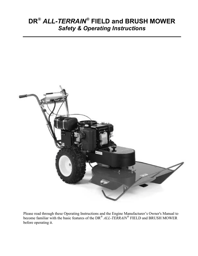 hight resolution of dr field and brush mower operating instructions