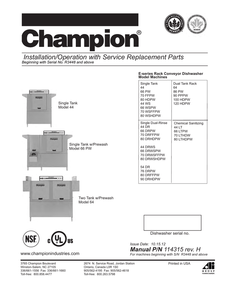 medium resolution of champion model 66 drpw troubleshooting guide manualzz com champion dish machine wiring diagram