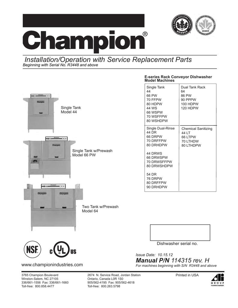 hight resolution of champion model 66 drpw troubleshooting guide manualzz com champion dish machine wiring diagram
