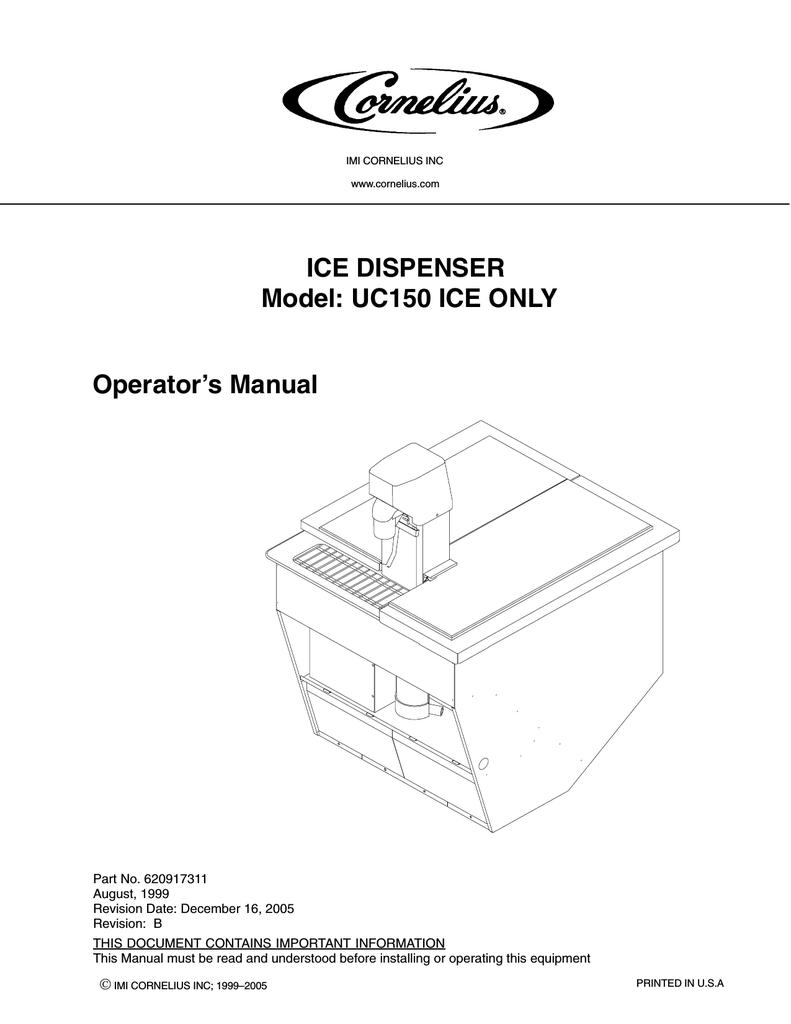 hight resolution of cornelius uc 150 operator s manual