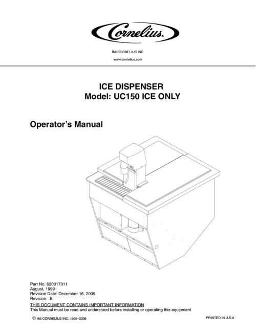 small resolution of cornelius uc 150 operator s manual